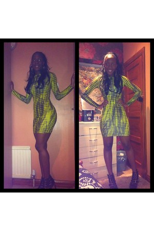 bodycon Topshop dress - leather mirror Jeffrey Campbell shoes