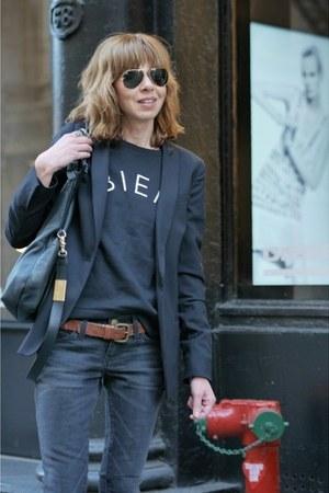 madewell blazer - suede ASH boots - denim Current Elliott jeans