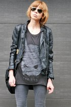 black Isabel Marant boots - black Muubaa jacket - dark gray Zoe Karssen t-shirt