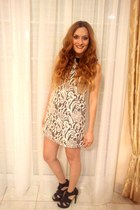 Topshop dress - Zara sandals