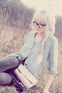 Black-sprakley-thrift-store-tights-white-from-a-friend-bag-black-nerd-shades