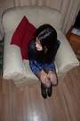 Topshop-dress-tabio-tights-ferragamo-shoes