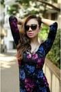 Floral-print-complot-dress-animal-print-mango-sunglasses