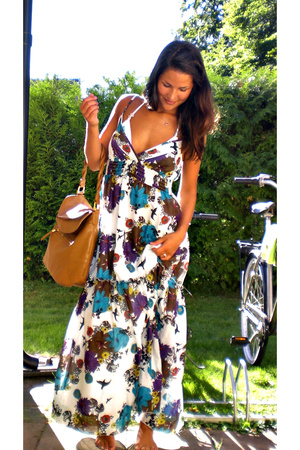lindex dress - H&M purse - GINA TRICOT swimwear