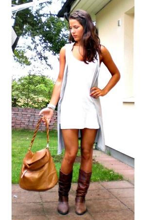 Cheap Monday top - Resterds vest - vintage shoes - H&M purse