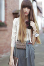 Black-asos-tights-turquoise-blue-villa-skirt-beige-cos-blouse