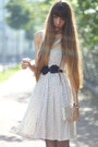 Ivory-mango-dress-off-white-louis-vuitton-bag