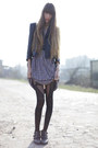 Black-jonathan-aston-tights-light-purple-vintage-dress-black-vintage-belt