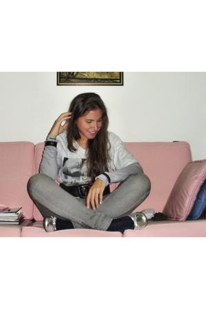Iceberg shirt - Topshop Moto jeans - Mario Bruni shoes - Zara belt - Bershka jac