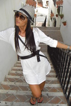 Zara dress - Uterqe sunglasses - Shoes Piel shoes - H&M Kids hat - H&M purse