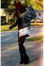 Black-suede-platform-go-jane-boots-silver-crushed-velvet-vintage-coat