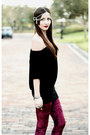 Crimson-velvet-romwe-leggings-black-wedged-urban-og-boots
