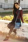 Black-ankle-urban-og-boots-crimson-moto-forever-21-jacket
