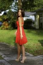 nude crossbody Etsy bracelet - red little hearts bycorpus dress