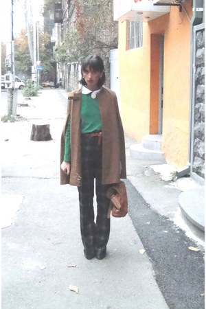 Zara coat - vintage belt - vintage accessories