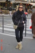 vintage scarf - Mexx jacket - Zara jeans - boots - accessories - Zara sunglasses