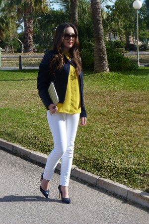 H&M jacket - Mango jeans - Bimba & Lola bag - Marc by Marc Jacobs sunglasses