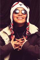 round firmoo glasses - panda beanies hat