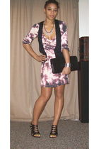 Forever 21 dress - black Target-Go International vest - black Cole Haan purse -