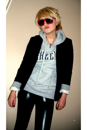 little boys jacket - forever 21 leggings - forever 21 sunglasses - camp hoddie t