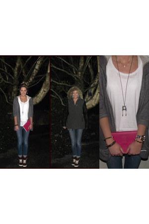 River Island jeans - River Island cardigan - Zara t-shirt
