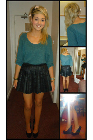 Topshop jumper - Penneys skirt - Miss Selfridge wedges
