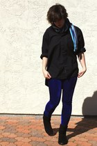black gift shirt - navy Ebay leggings