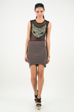charcoal gray nectar clothing dress - black Quipid pumps
