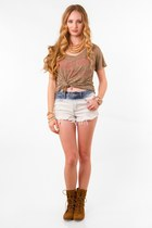 nectar clothing watch - Breckelles boots - ombre cutoffs shorts