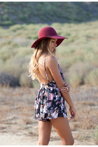 floral nectar clothing romper - felt nectar clothing hat