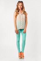 gold nectar clothing bracelet - aquamarine Vibrant Jeans jeans