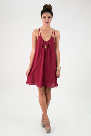 maroon nectar clothing dress - tan taupe pumps nectar clothing heels