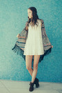 Brown-nectar-clothing-boots-ivory-nectar-clothing-dress