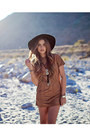Suede-dress-nectar-clothing-dress-floppy-hat-nectar-clothing-hat