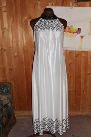 white handmade dress