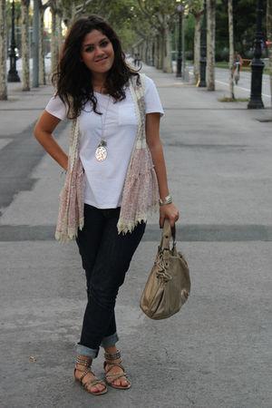 Gap t-shirt - gerard darel bag - Gap jeans - ASH shoes