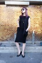 black black pencil Topshop dress - black sleeveless long H&M Trend blazer