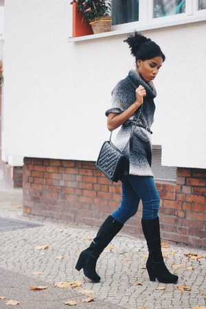 asos shoes - About You jeans - About You sweater - Mango bag