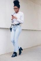 farfetch jeans - zalando heels - asos belt