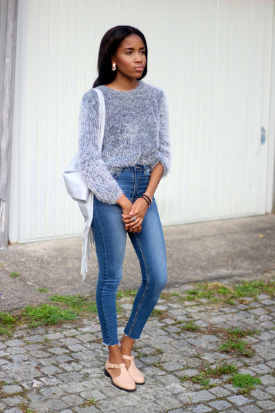 asos sweater - Missguided jeans - Missguided bag - Primark flats