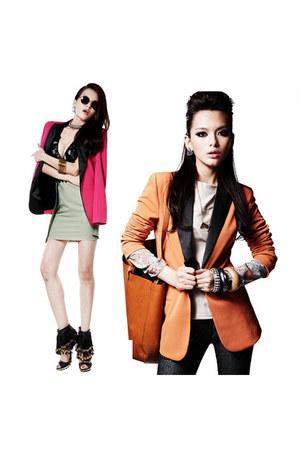 candy color blazer