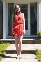 coral TNFC London dress - coral next heels