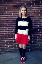 red Mossimo Supply shoes - poof excellence sweater - red Wilson skirt