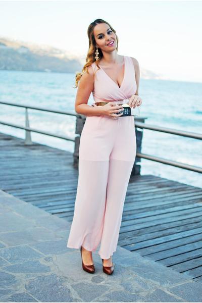pink Teria Yabar earrings - brown Zara purse - light pink Walg London jumper