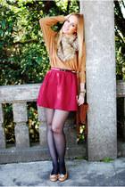 bronze nowIStyle sweater - tawny nowIStyle scarf - crimson Stradivarius skirt