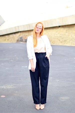 pink optical h roberto cavalli sunglasses - white Zara blazer