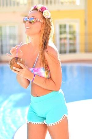 amethyst Lili Shopping bracelet - sky blue AmiClubWear shorts