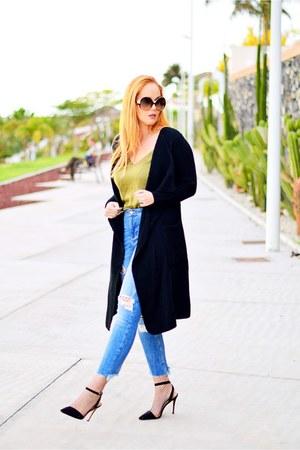 black Marypaz shoes - blue Zara jeans - black opticalh Chloe sunglasses