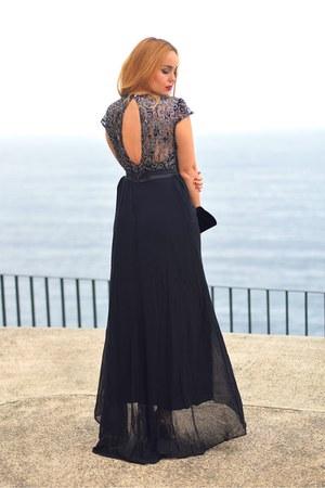 black Ever Pretty dress - black Ever Pretty bag - silver AmiClubWear sandals