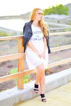 black Mango jacket - white Dead Legacy shirt - pink opticalh dior sunglasses